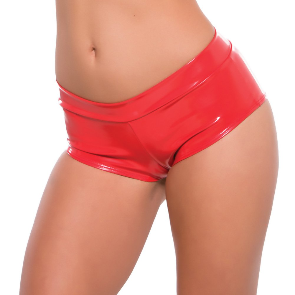 Second Skin Red Hot Short Shorts Red Small Medium - View #1