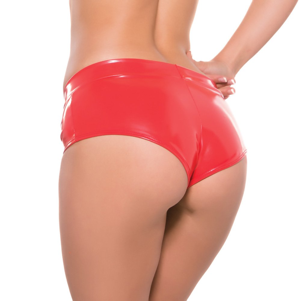 Second Skin Red Hot Short Shorts Red Large Extra Large - View #2