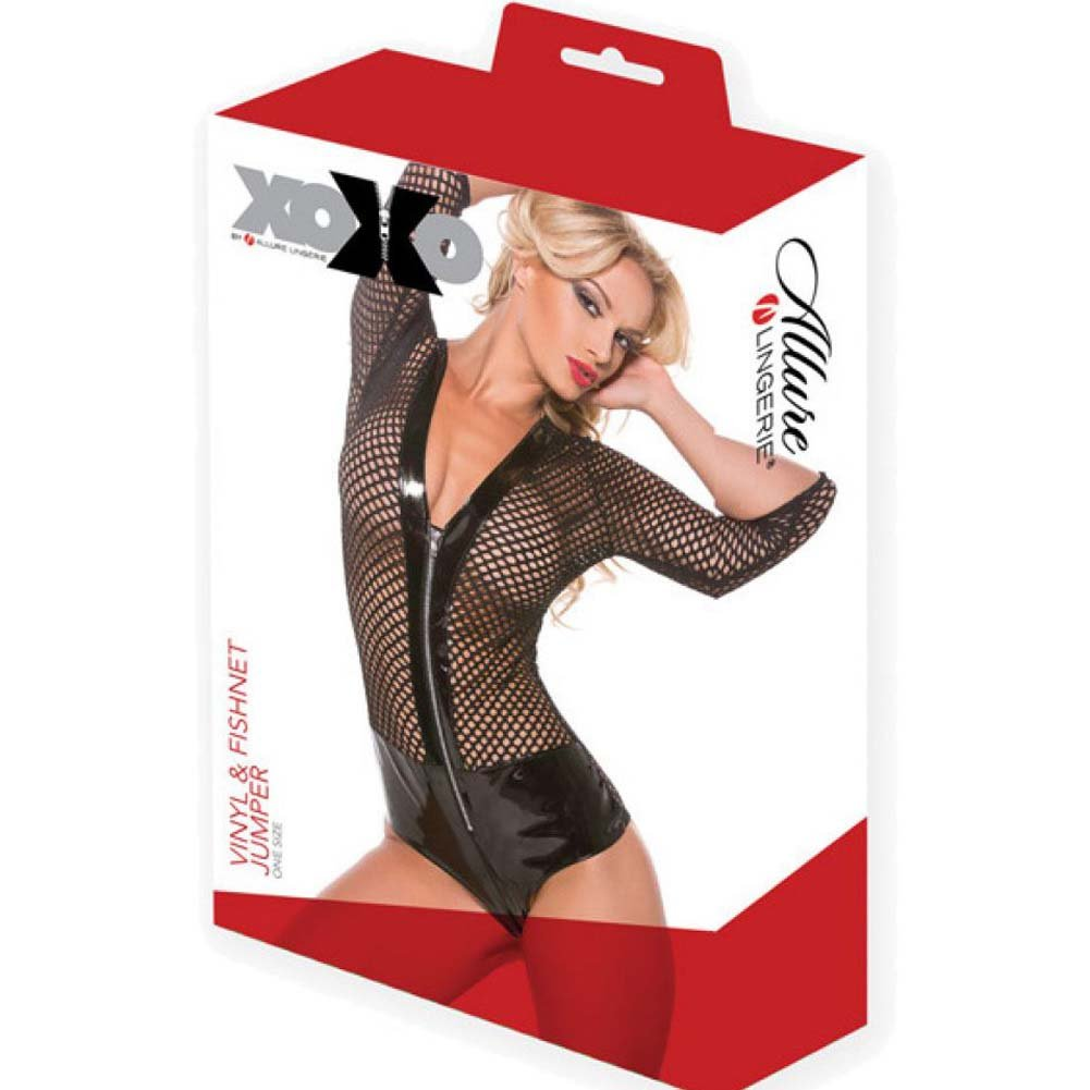 XOXO Seductive Vinyl and Fishnet Jumper One Size Black - View #4