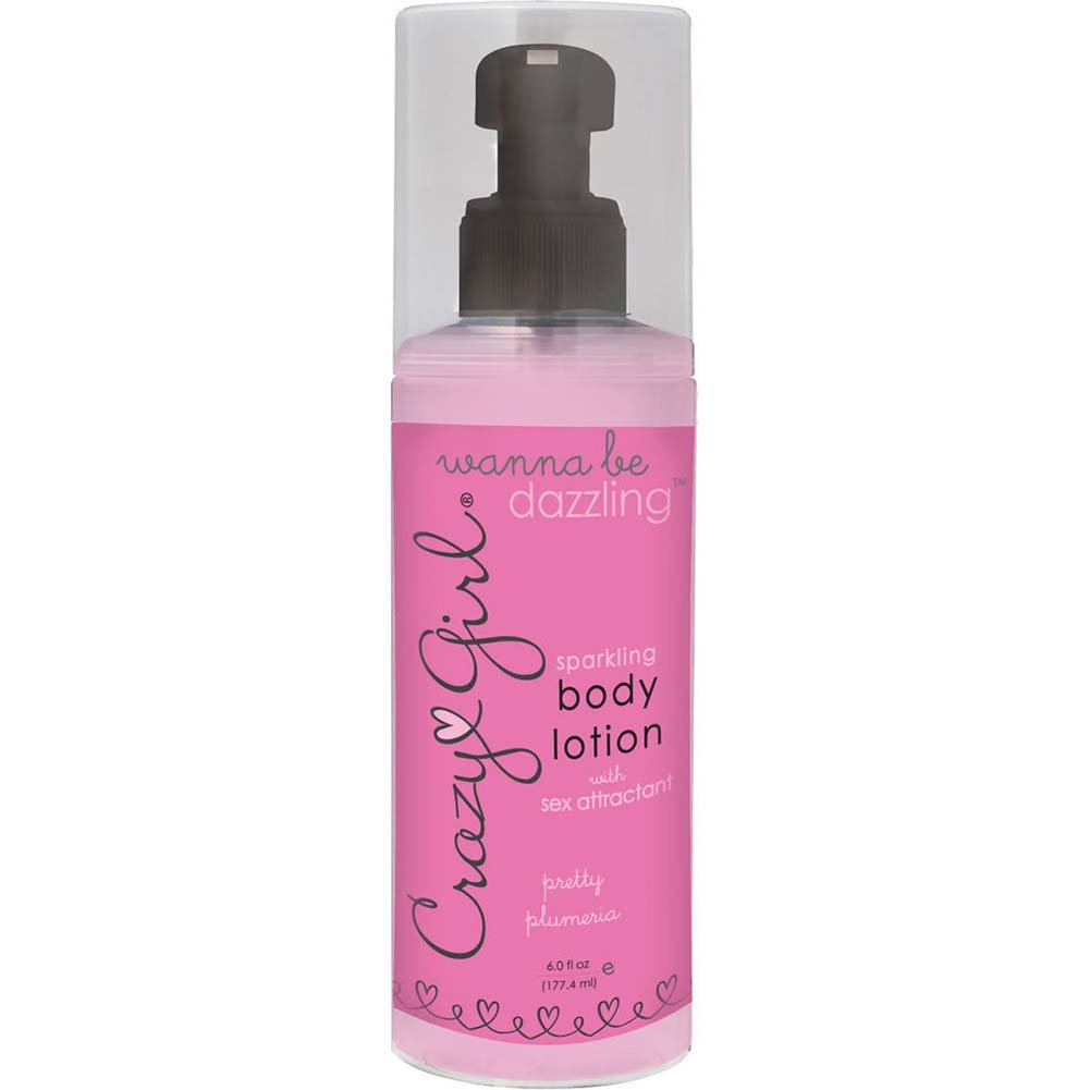 Crazy Girl Wanna Be Dazzling Sparkling Body Lotion with Pheromones Pretty Plumeria 6 Oz - View #1