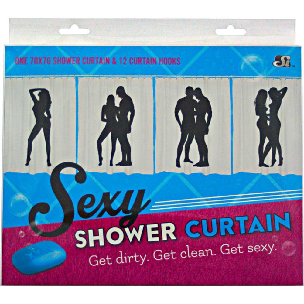 SI Novelties Sexy Female Male Shower Curtain - View #3