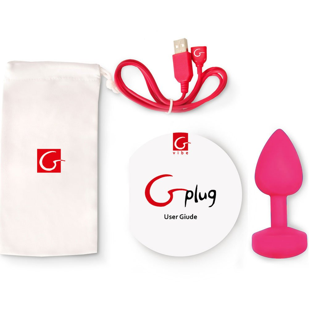 "Fun Toys Large Vibrating Rechargeable G Plug 4.5"" Rose Pink - View #1"