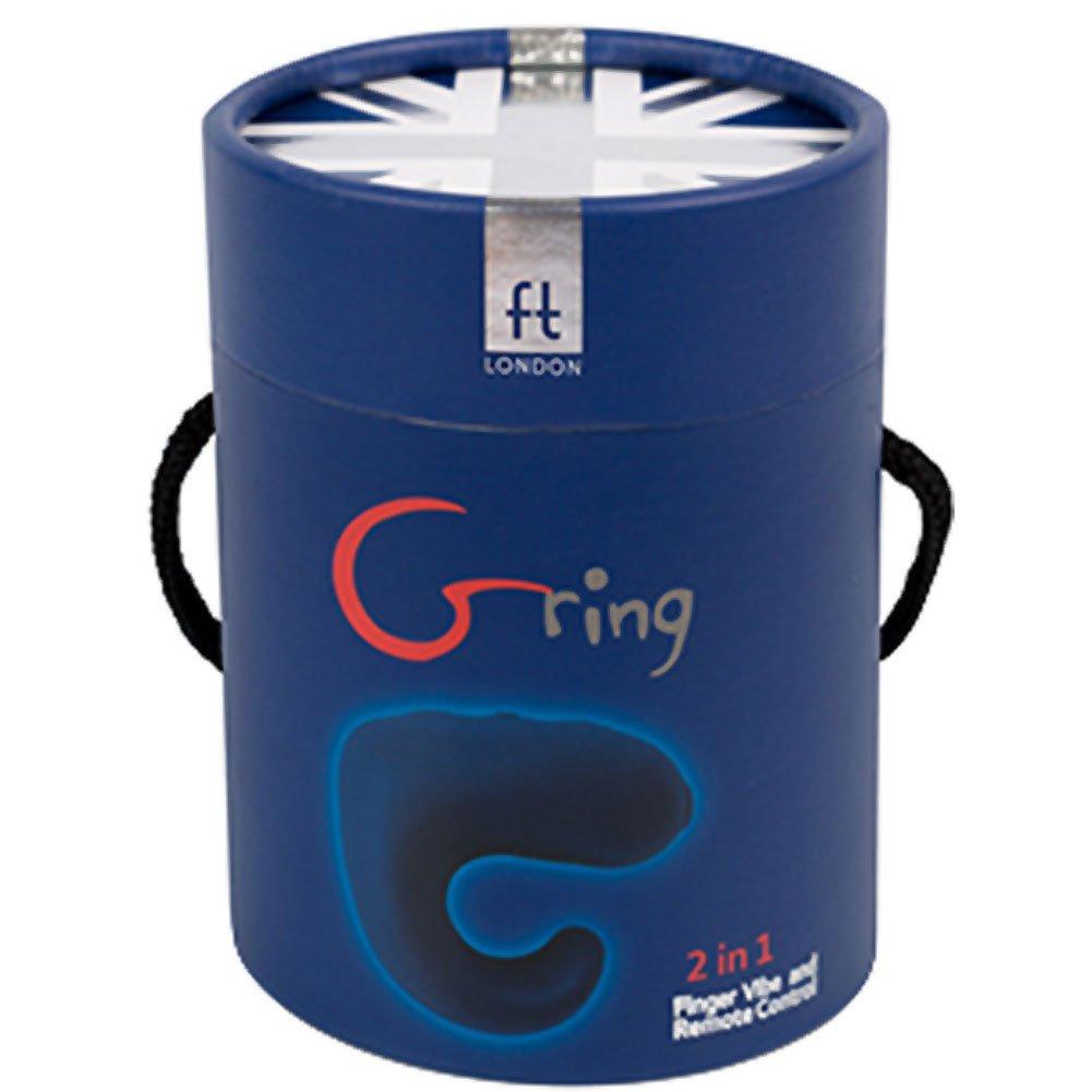 Fun Toys G Ring Advanced Silicone Finger Vibrator Dark Blue - View #4