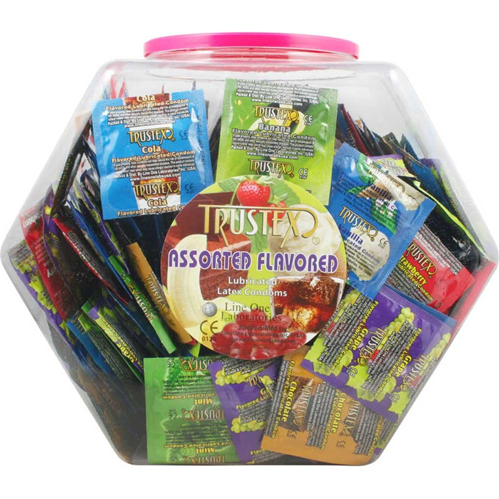 Trustex Assorted Flavor Condoms 288 Piece Display Fishbowl - View #2