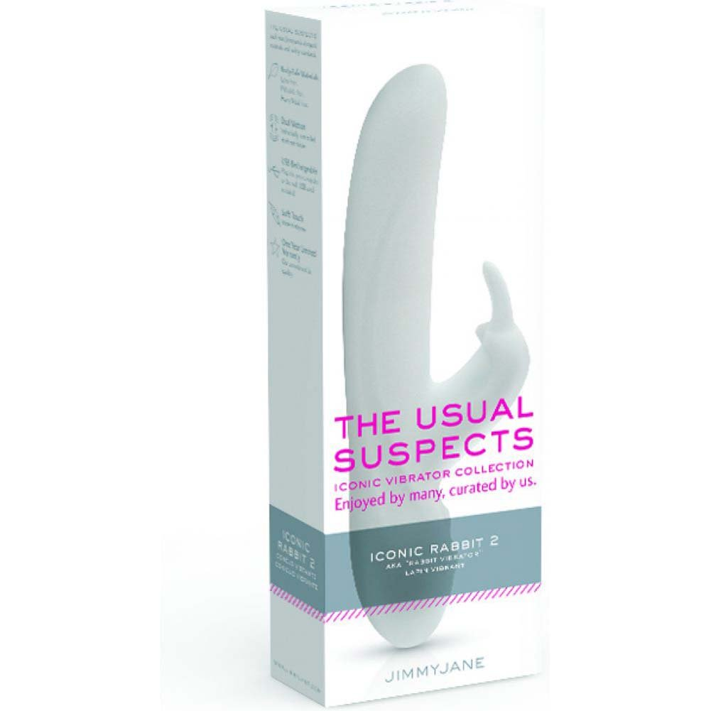"Jimmyjane Usual Suspects Iconic Vibrator Iconic Rabbit 2 8"" White - View #1"
