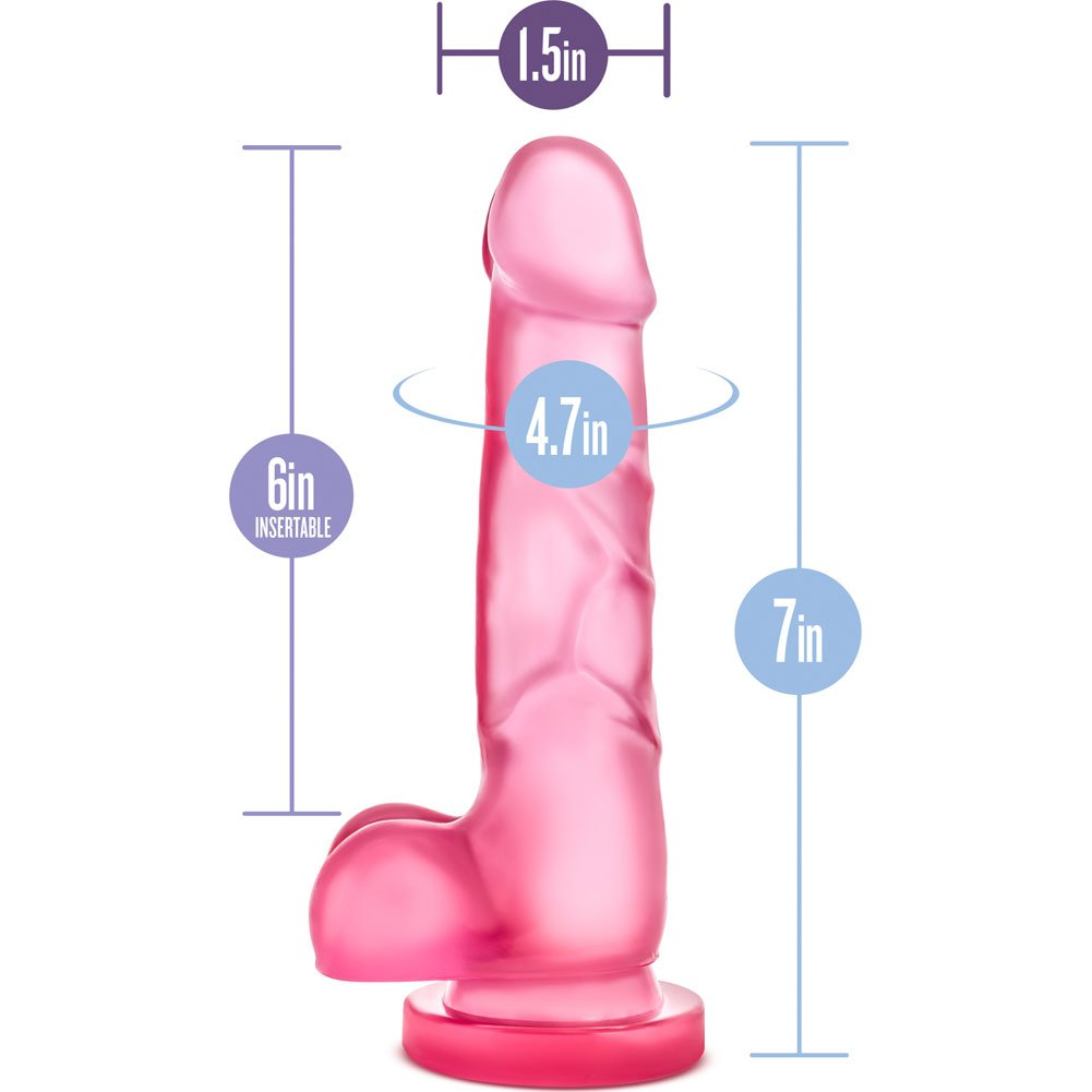 "Blush B Yours Sweet N Hard Number 4 Cock Dildo 7.75"" Pink - View #1"