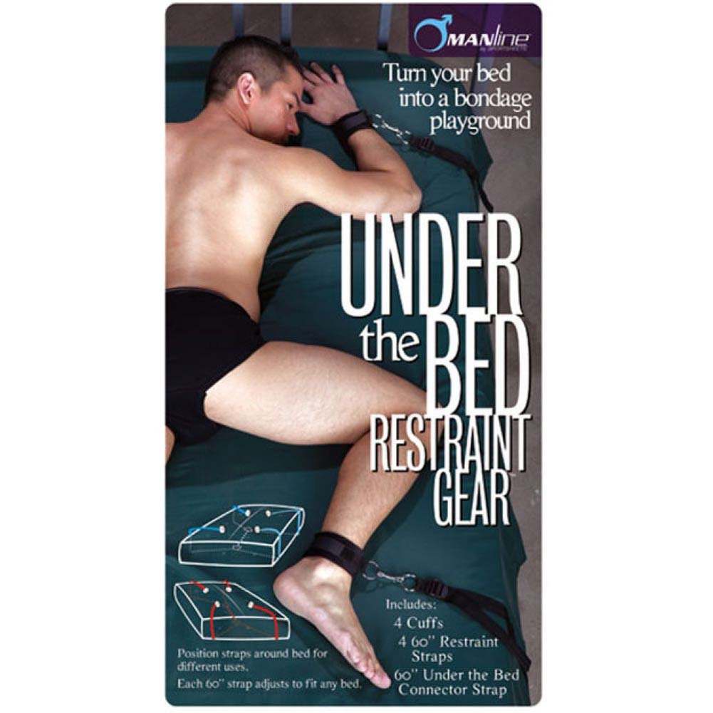 Sportsheets Manbound Under the Bed Restraint Gear Black - View #2