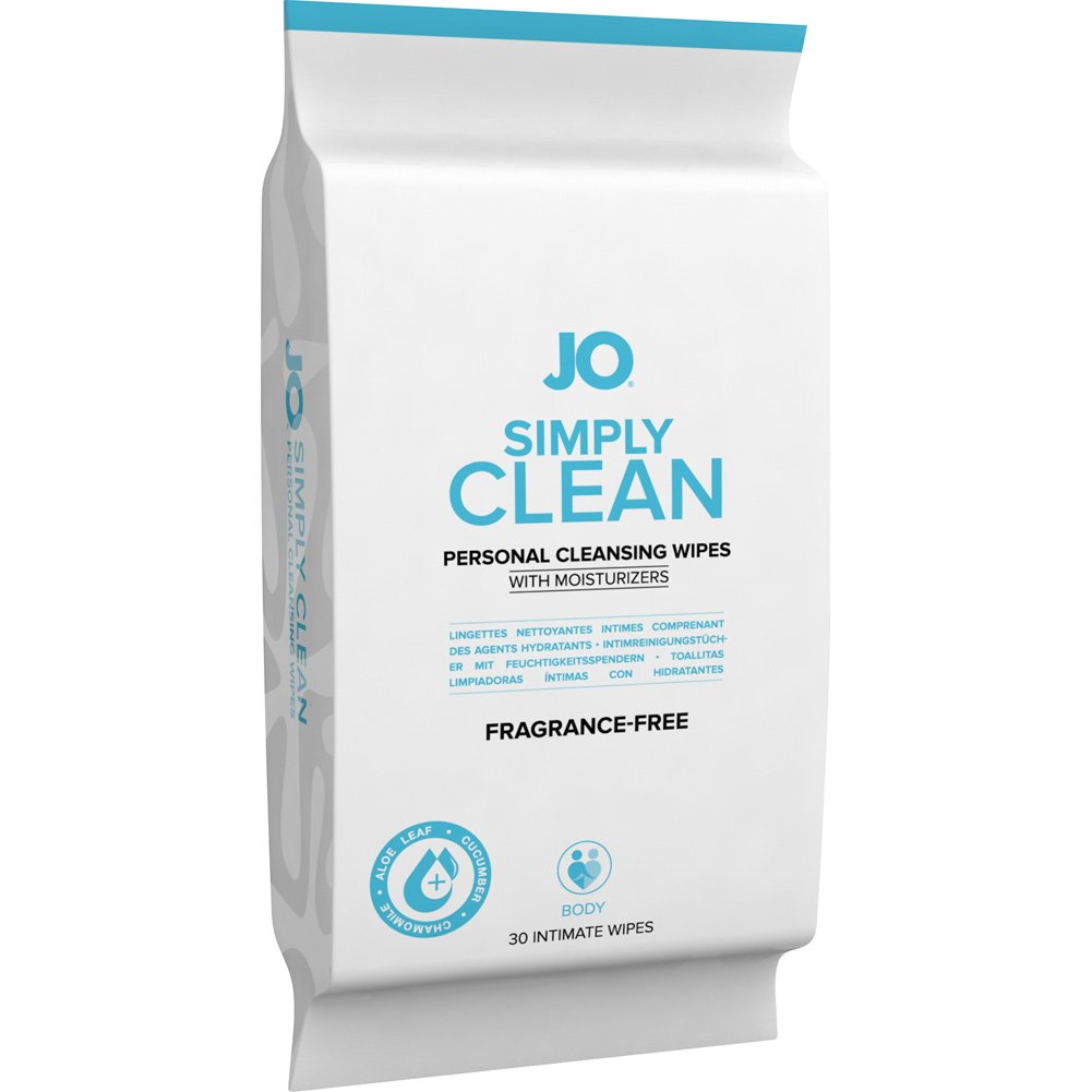 System JO Personal Cleansing Wipes Extra Clean Pack of 30 - View #2