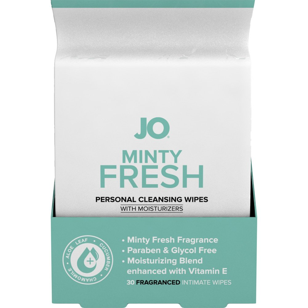 System JO Personal Cleansing Wipes Minty Fresh Pack of 30 - View #1
