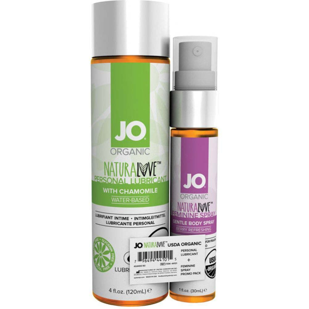System JO USDA Organic Personal Lube and Feminine Spray Combo Pack - View #1