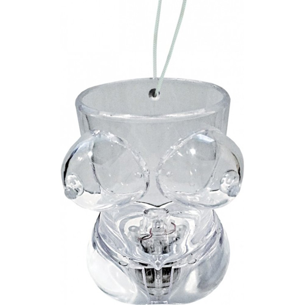 Hott Products Light Up Boobie Torso Shot Glass Clear - View #2