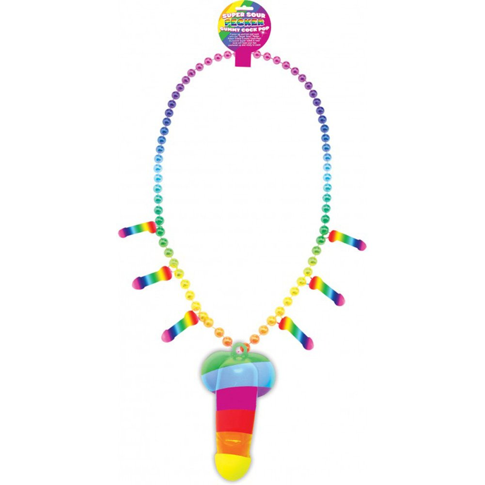 Hott Products Rainbow Pecker Whistle Candy Necklace - View #1