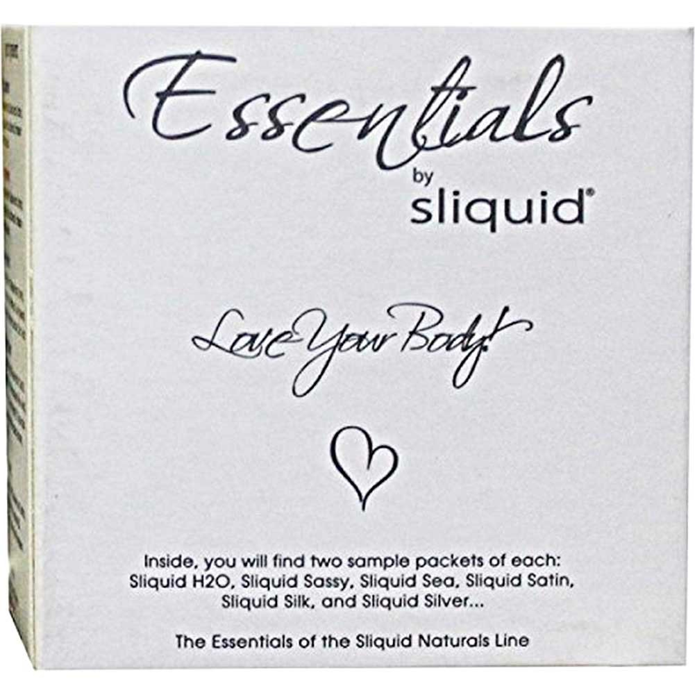Sliquid Essentials Lubricant Sampler Pack Box 12 Pillows of 0.17 Fl.Oz 5 Ml - View #2