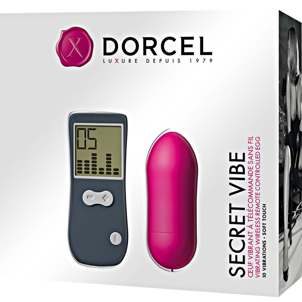 "Dorcel Secret Vibe Wireless Vibrating Bullet with Remote 3"" Hot Pink - View #1"