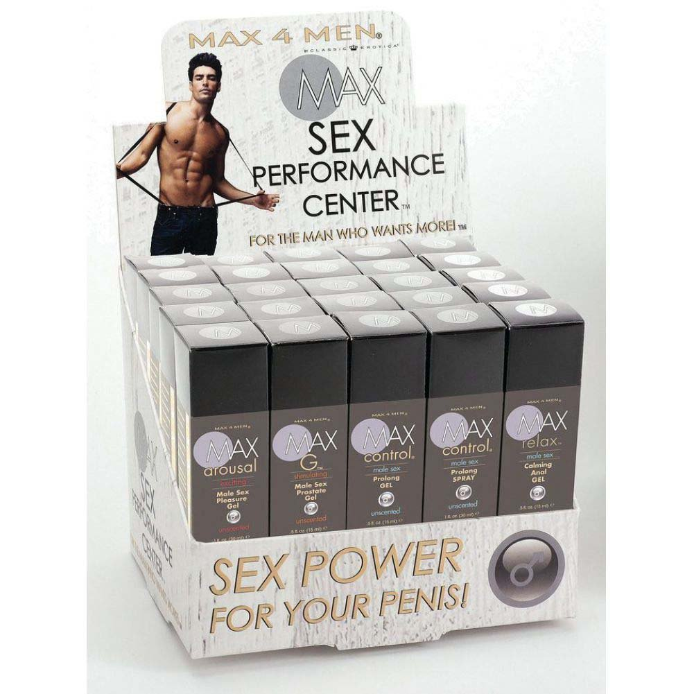 Max 4 Men Sex Performance Center 20 Piece Counter Display - View #1