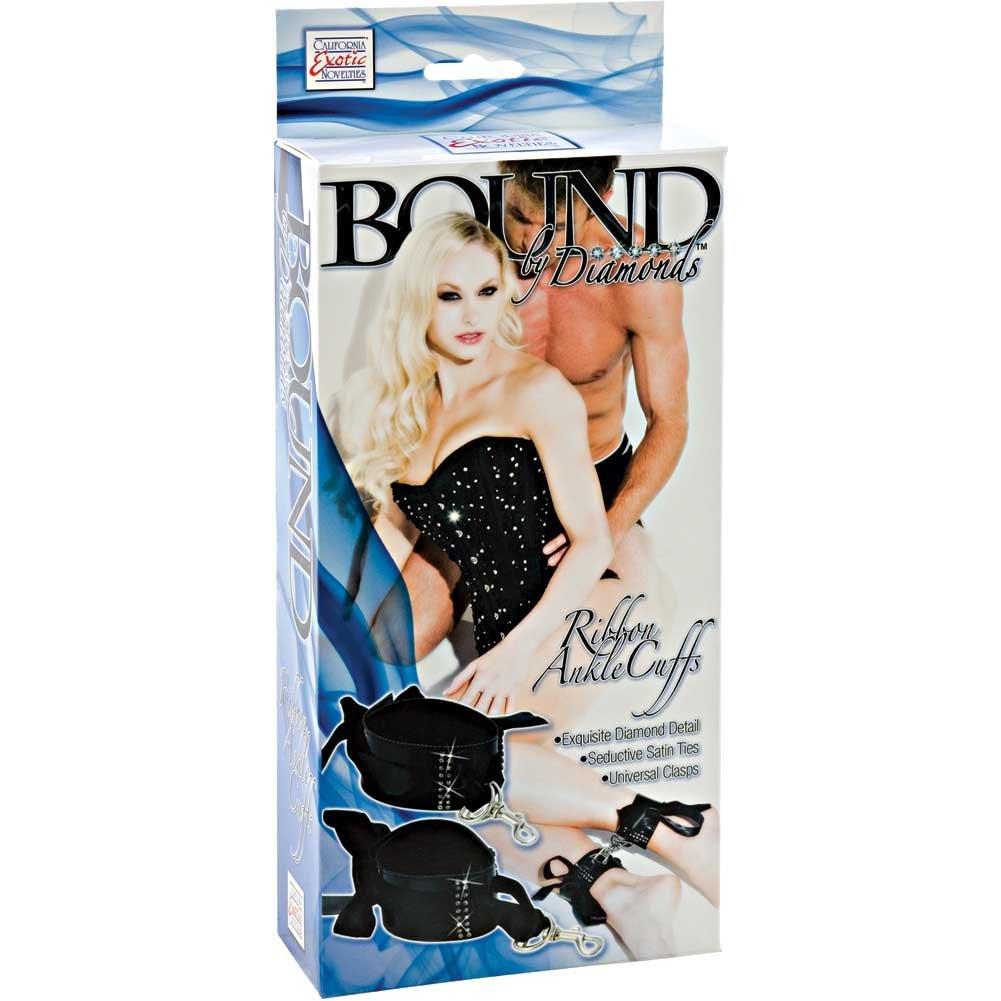 Bound by Diamonds Ribbon Ankle Cuffs Black - View #1