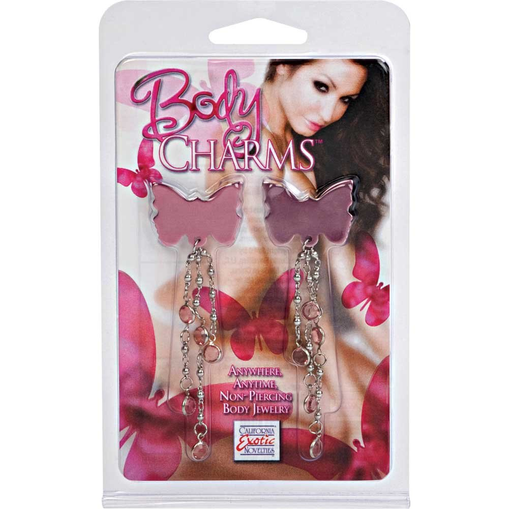 Body Charms Pink Butterfly Nipple Jewelry Pasties Purple - View #1