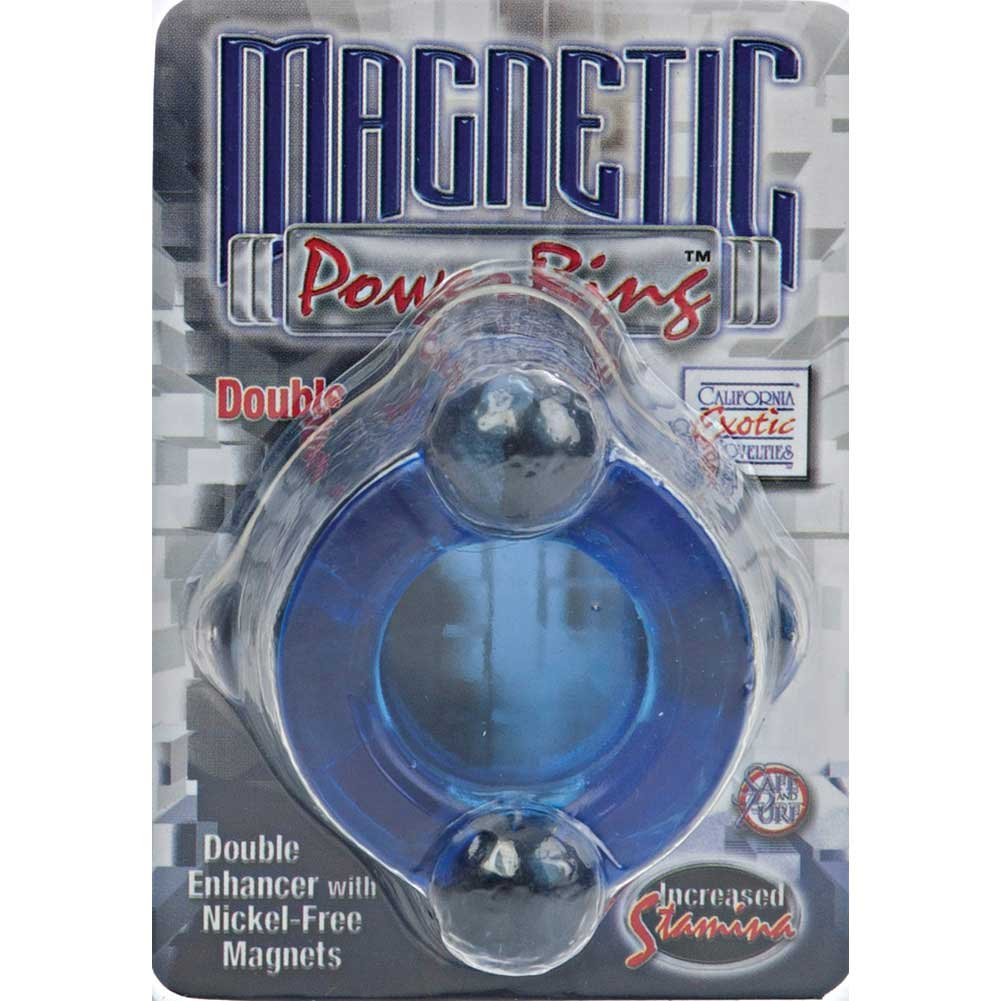 California Exotics Magnetic Power Double Enhancer Ring Blue - View #1