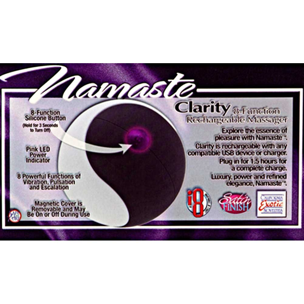 California Exotics Namaste Clarity Rechargeable Personal Massager Black/White - View #1