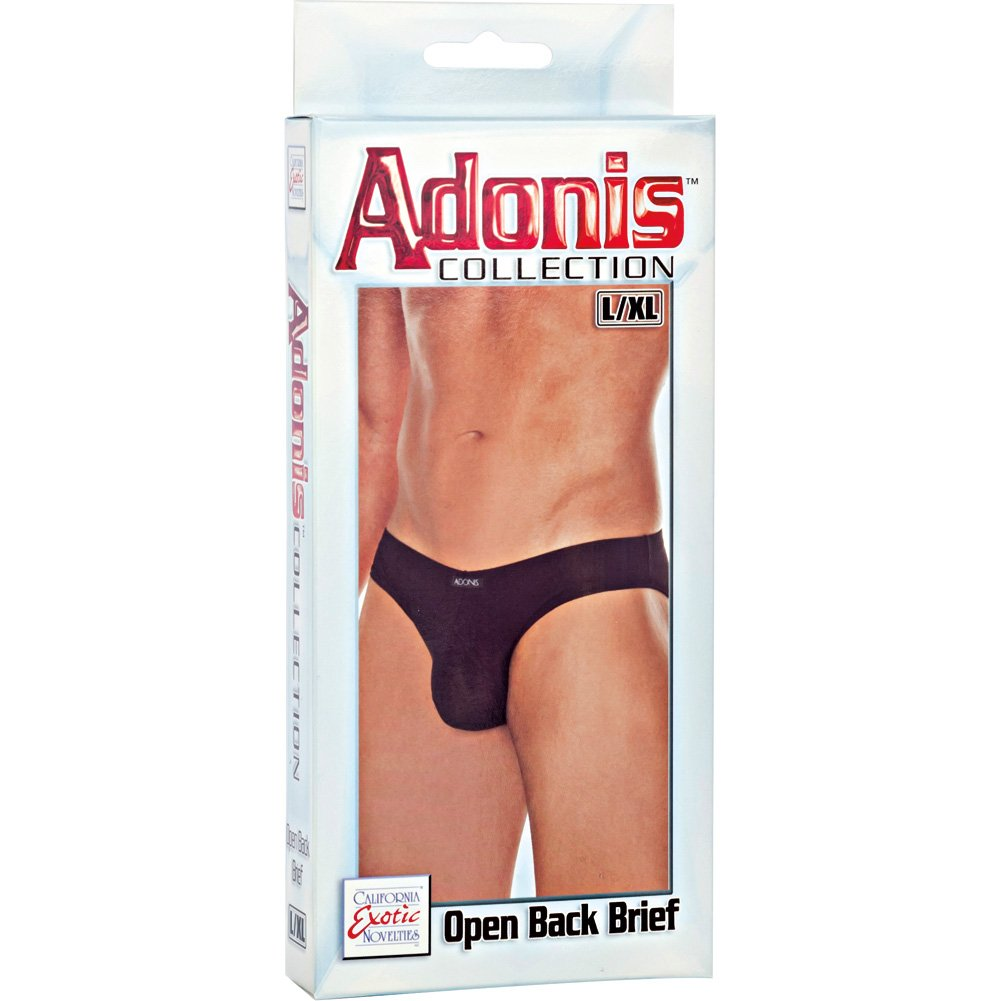 Adonis Collection Open Back Brief Large/Extra Large Black - View #3