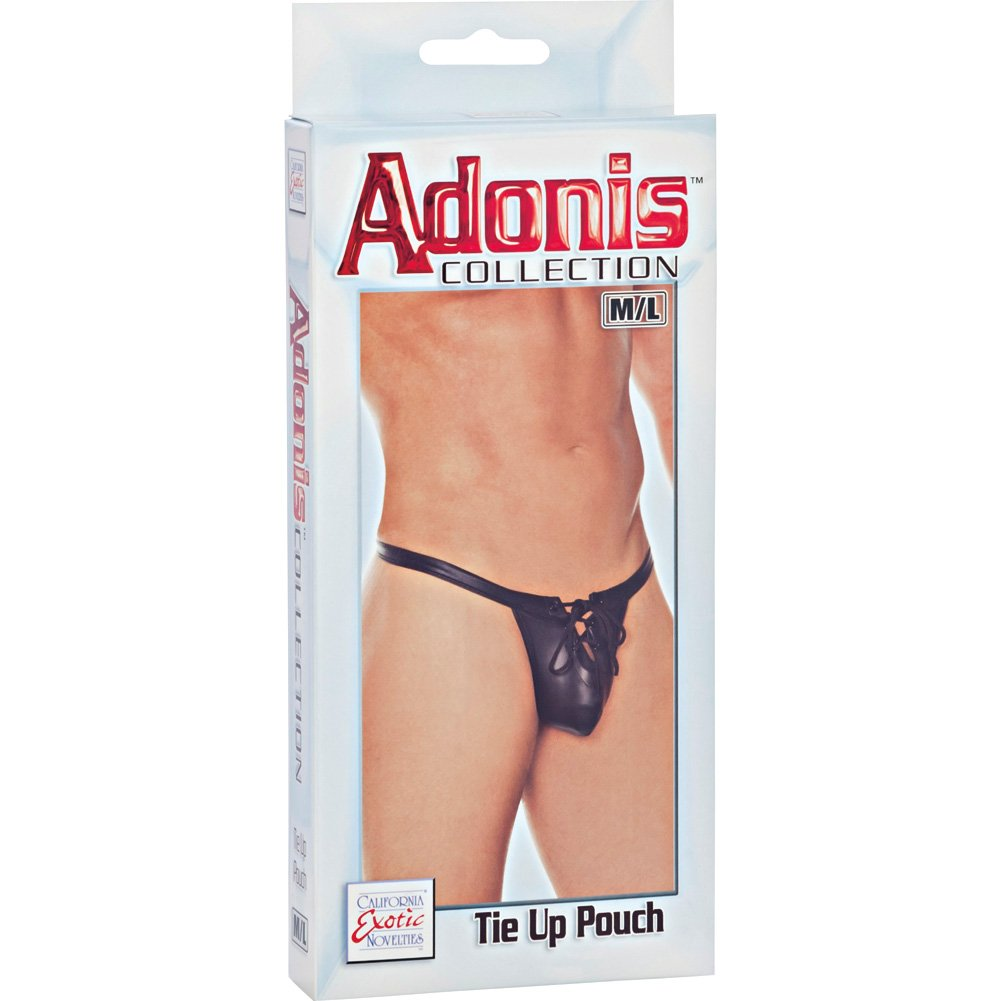 Adonis Collection Tie Up Pouch Medium/Large Black - View #3