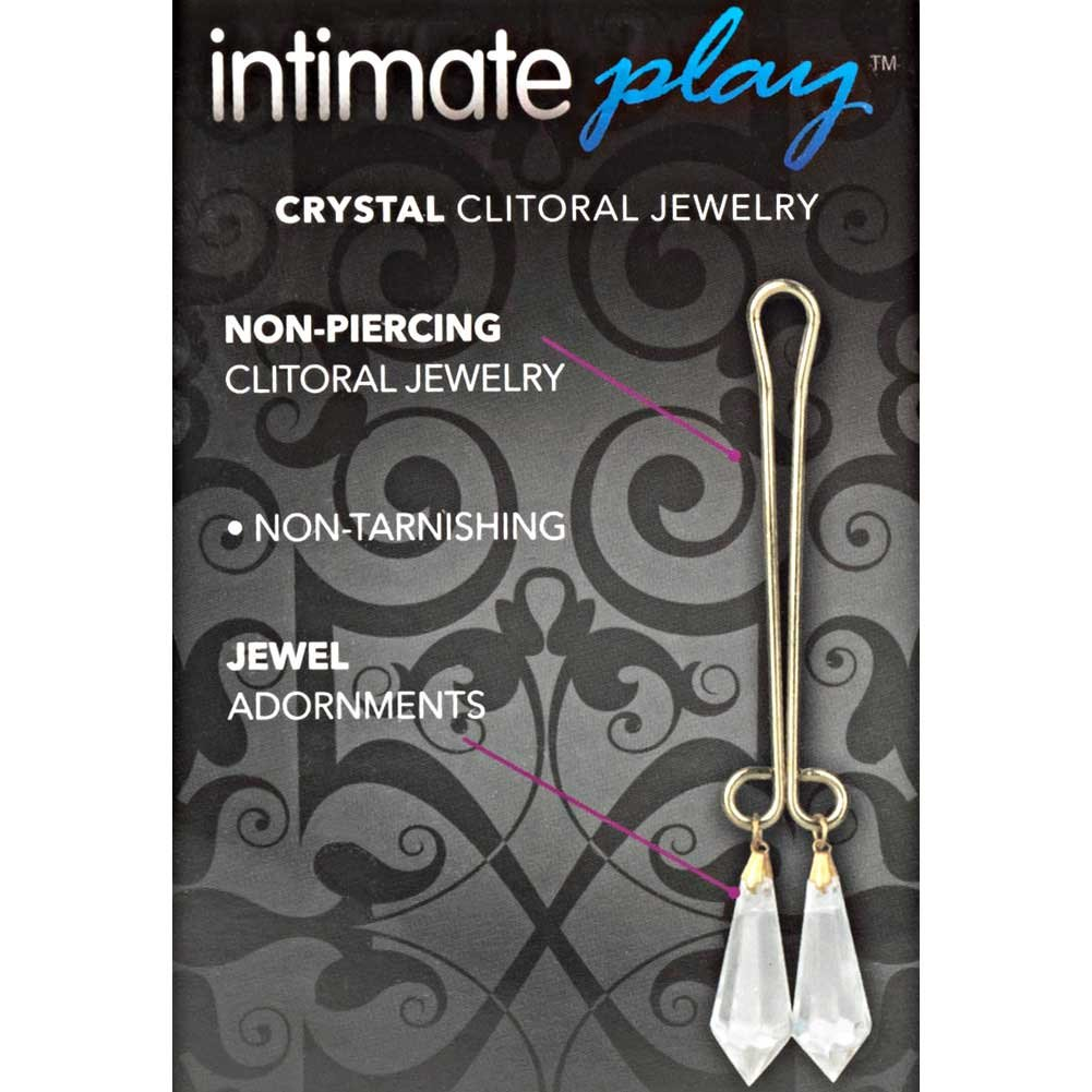 CalExotics Cleopatra Collection Clit Clip Clitoral Jewelry Purple Crystals - View #1