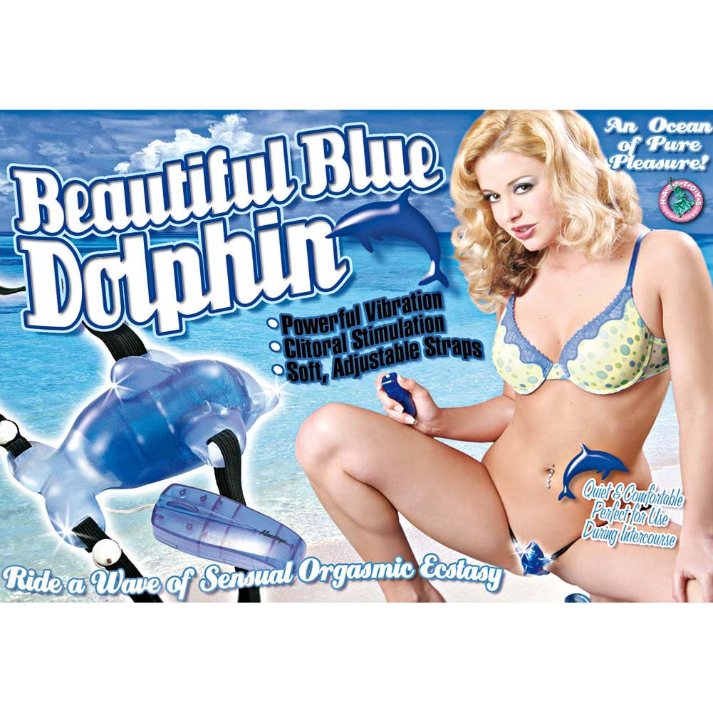 Beautiful Dolphin Clitoral Vibrator Blue - View #1