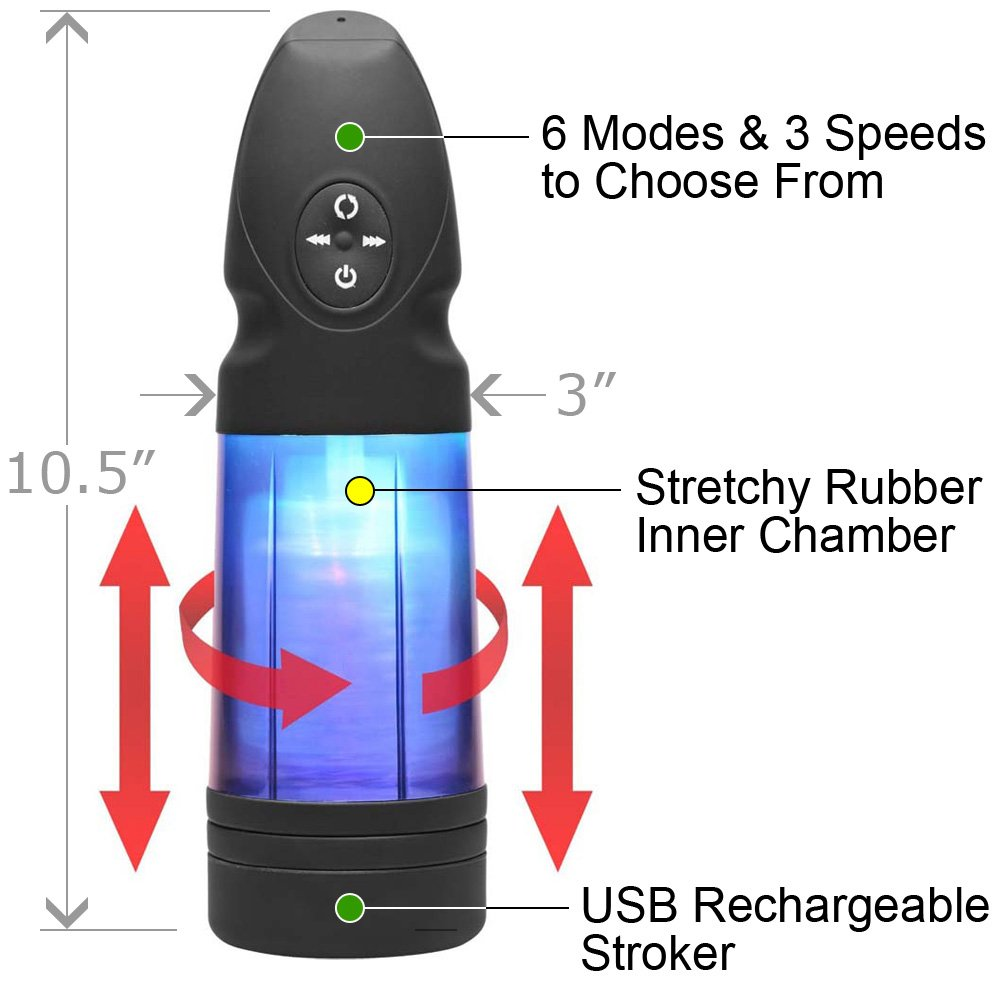 Strobe Multi Function Rechargeable Stroker - View #1