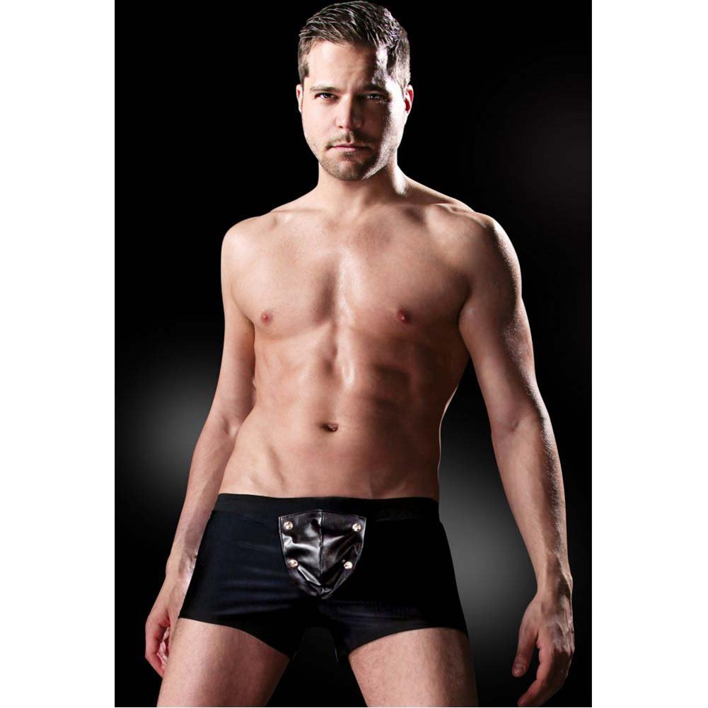 Fetish Fantasy Lingerie Beefy Brief with Built-in Cock Ring Small/Medium Black - View #3