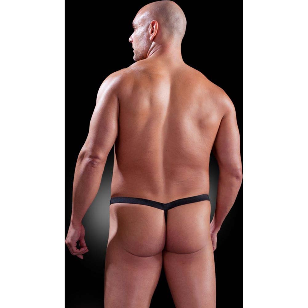 Fetish Fantasy Lingerie Male Chain Gang Thong and Nipple Clamps Set 2XL/3XL Black - View #3