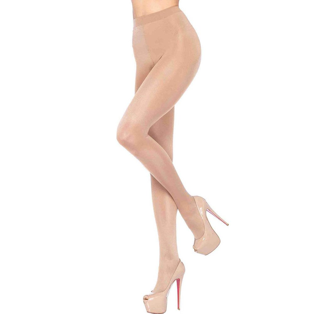 Leg Avenue Lycra Sheer to Waist Support Pantyhose One Size Nude - View #1