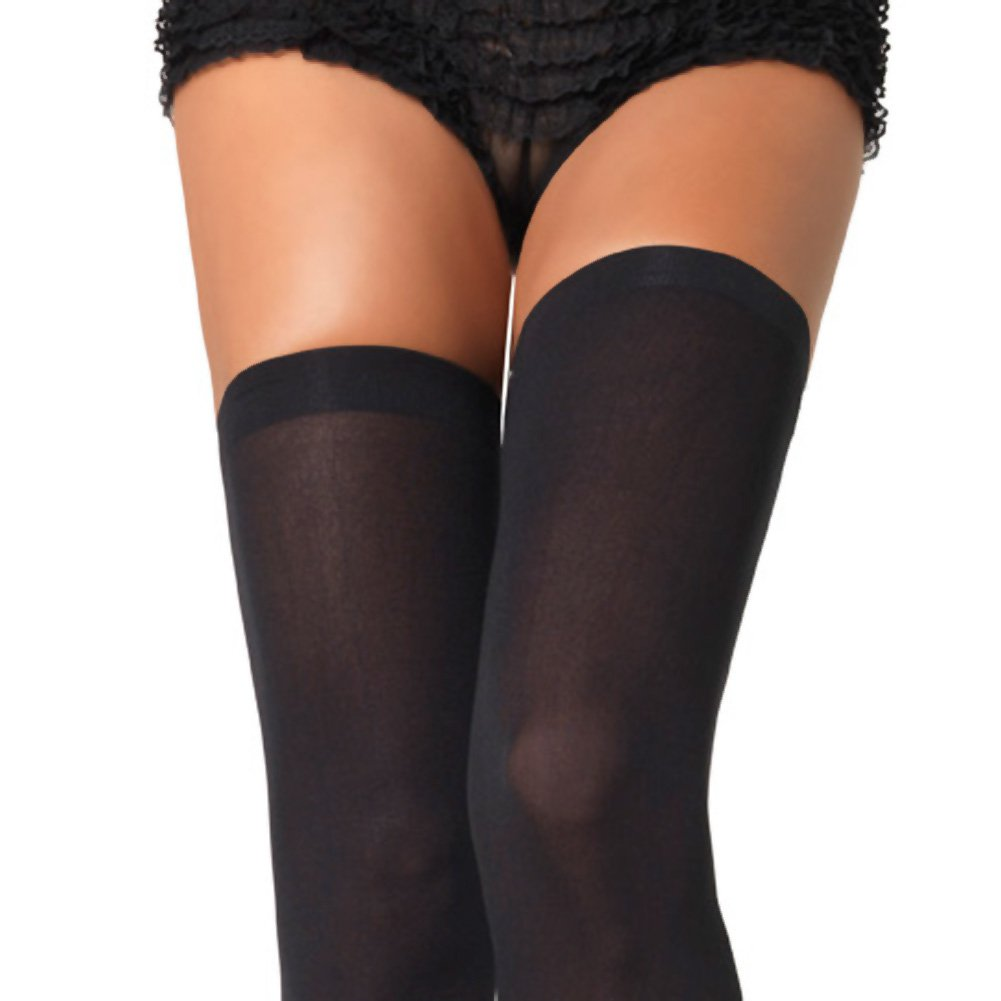 Leg Avenue Over the Knee Thigh High Stockings One Size Black - View #2