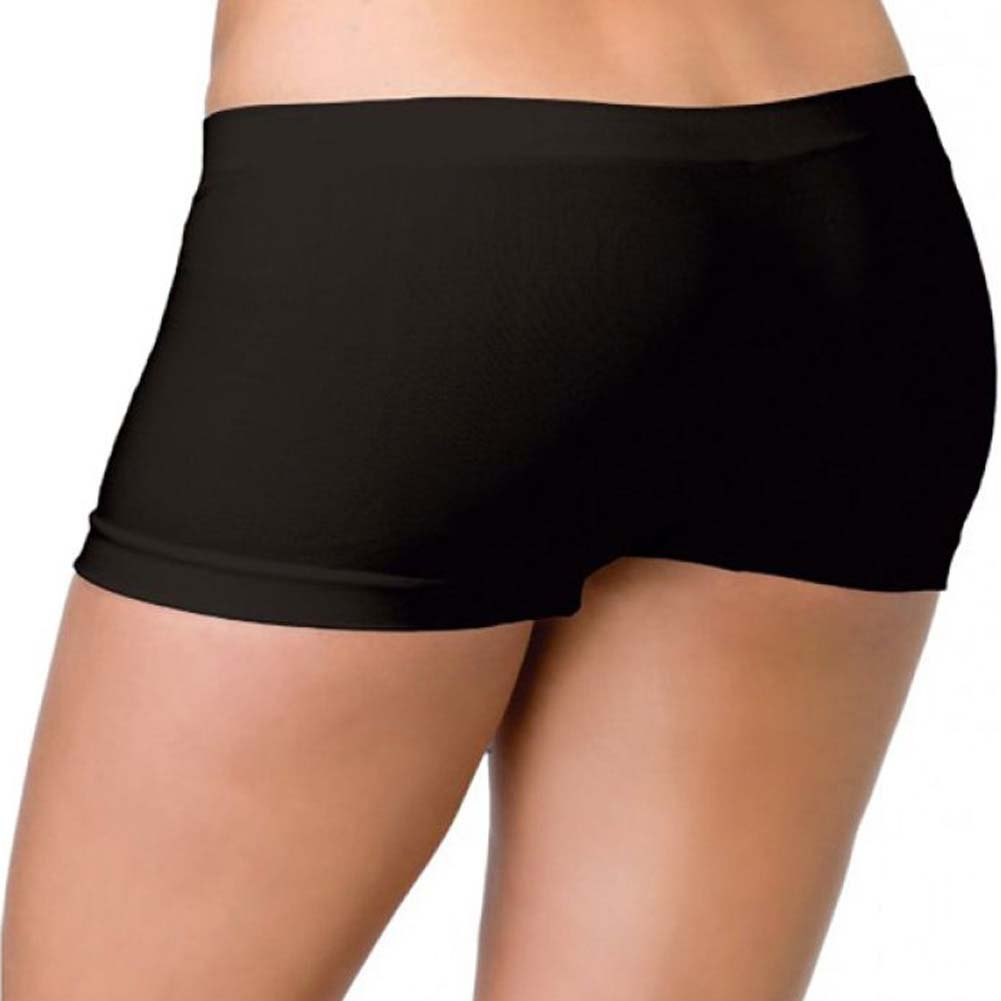 Leg Avenue Spandex Seamless Boyshorts One Size Black - View #1