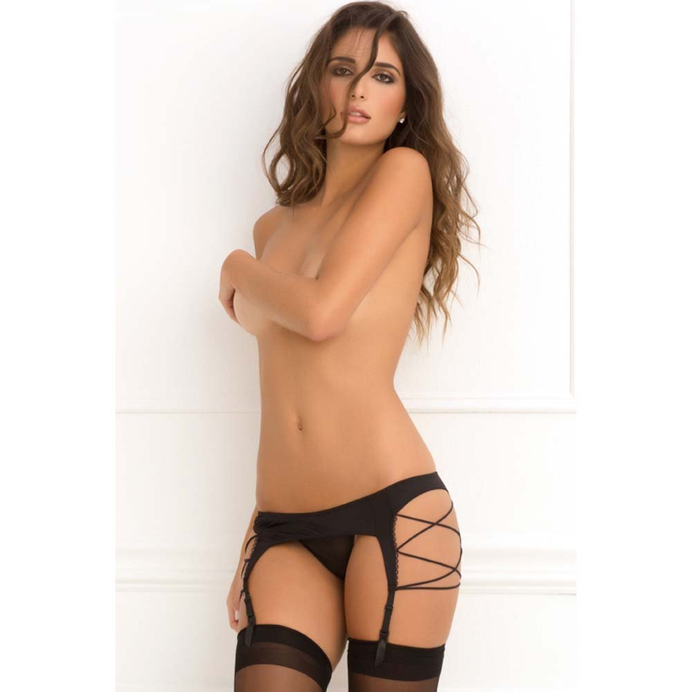 Rene Rofe Side Strap Garter Belt Small/Medium Black - View #3