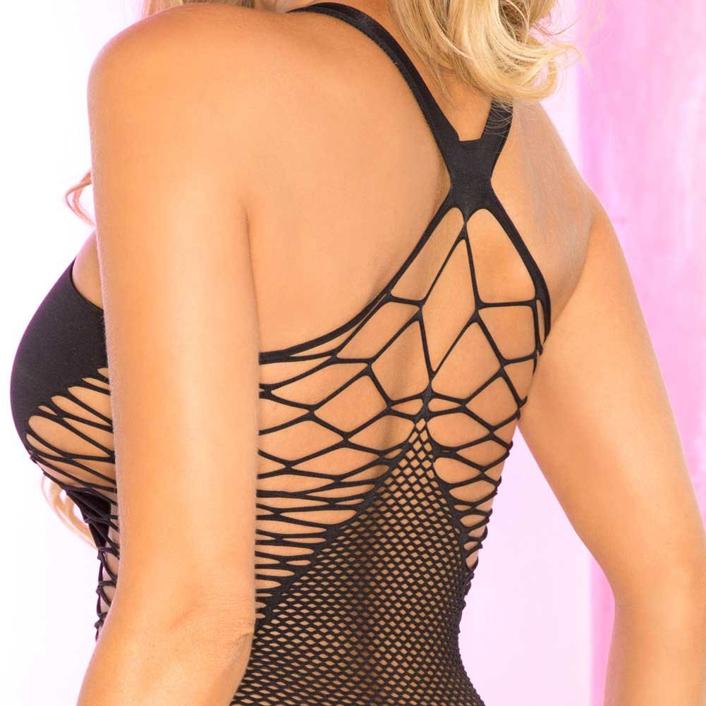 Pink Lipstick Tease to Please Seamless Dress One Size Black - View #4