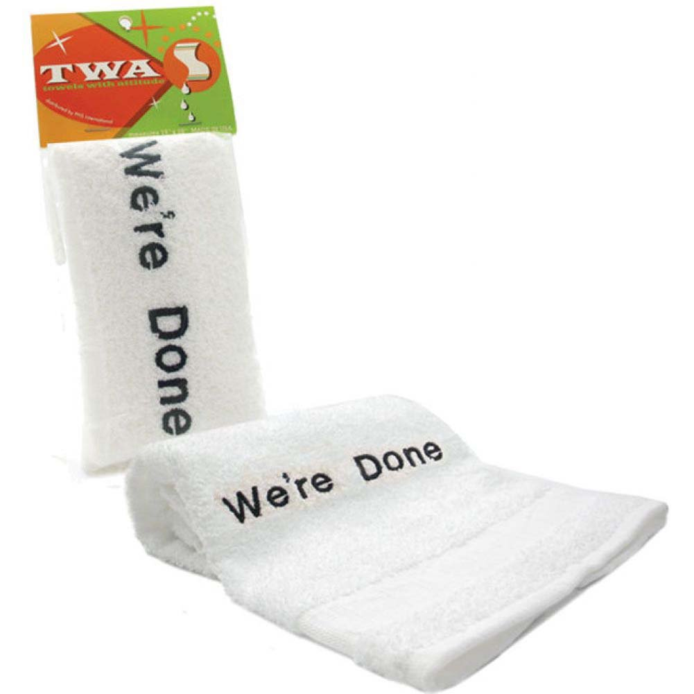 WEAR DONE Embroidered Towel White - View #1