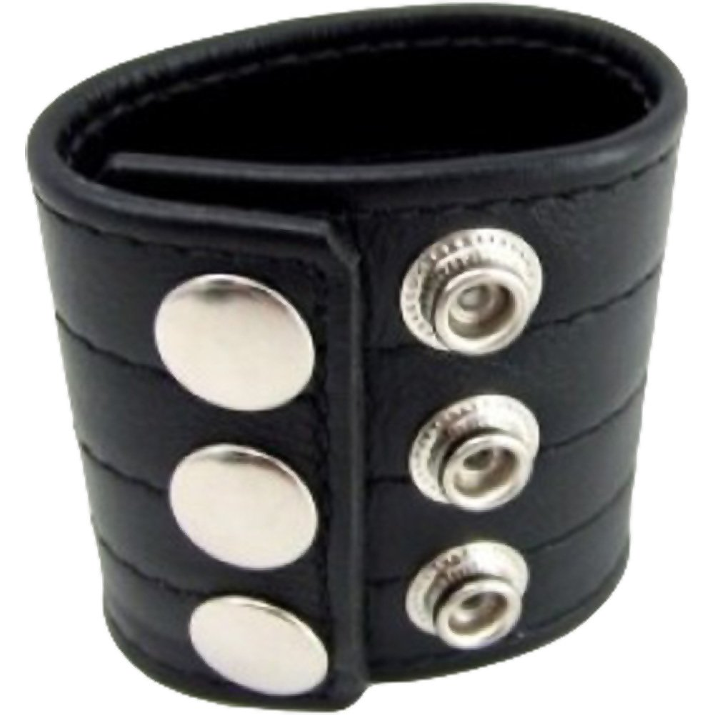 """M2M Leather Ball Stretcher for Men 2"""" Black - View #2"""