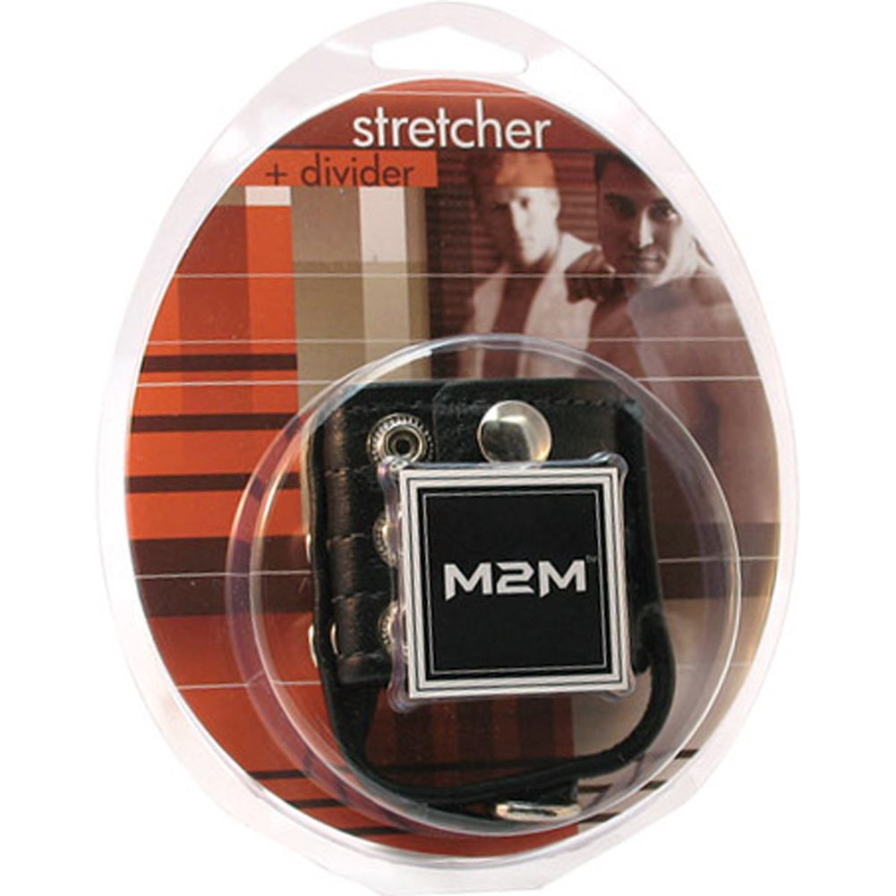 M2M Leather Ball Stretcher and Divider with Weight Pull 2-Inch Black - View #1