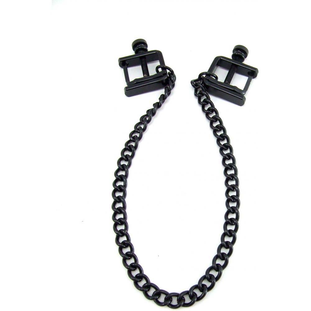 H2H Nipple Clamps Press with Chain Black - View #4