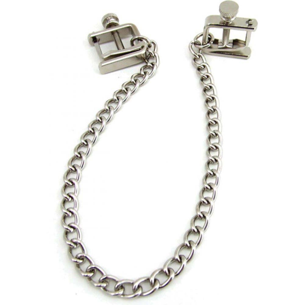 Heart 2 Heart Press Nipple Clamps with Chain Chrome - View #2