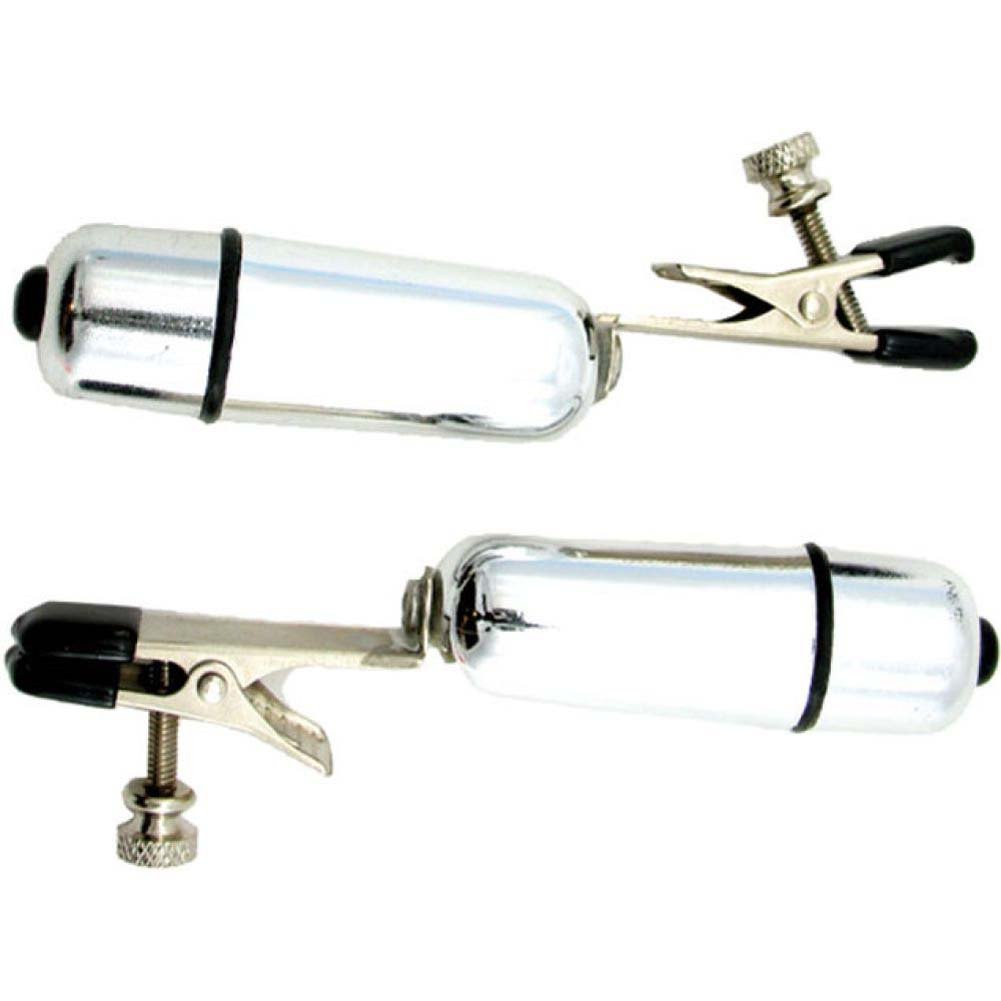 H2h Nipple Clamps Alligator W Bullet Chrome - View #2