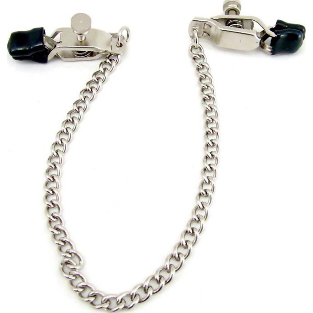Heart 2 Heart Criss Cross Nipple Clamps with Chain Chrome - View #2