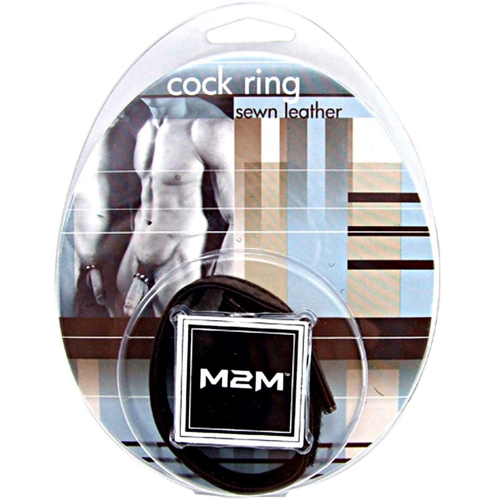 M2m Cock Ring Leather Velcro Brown - View #1