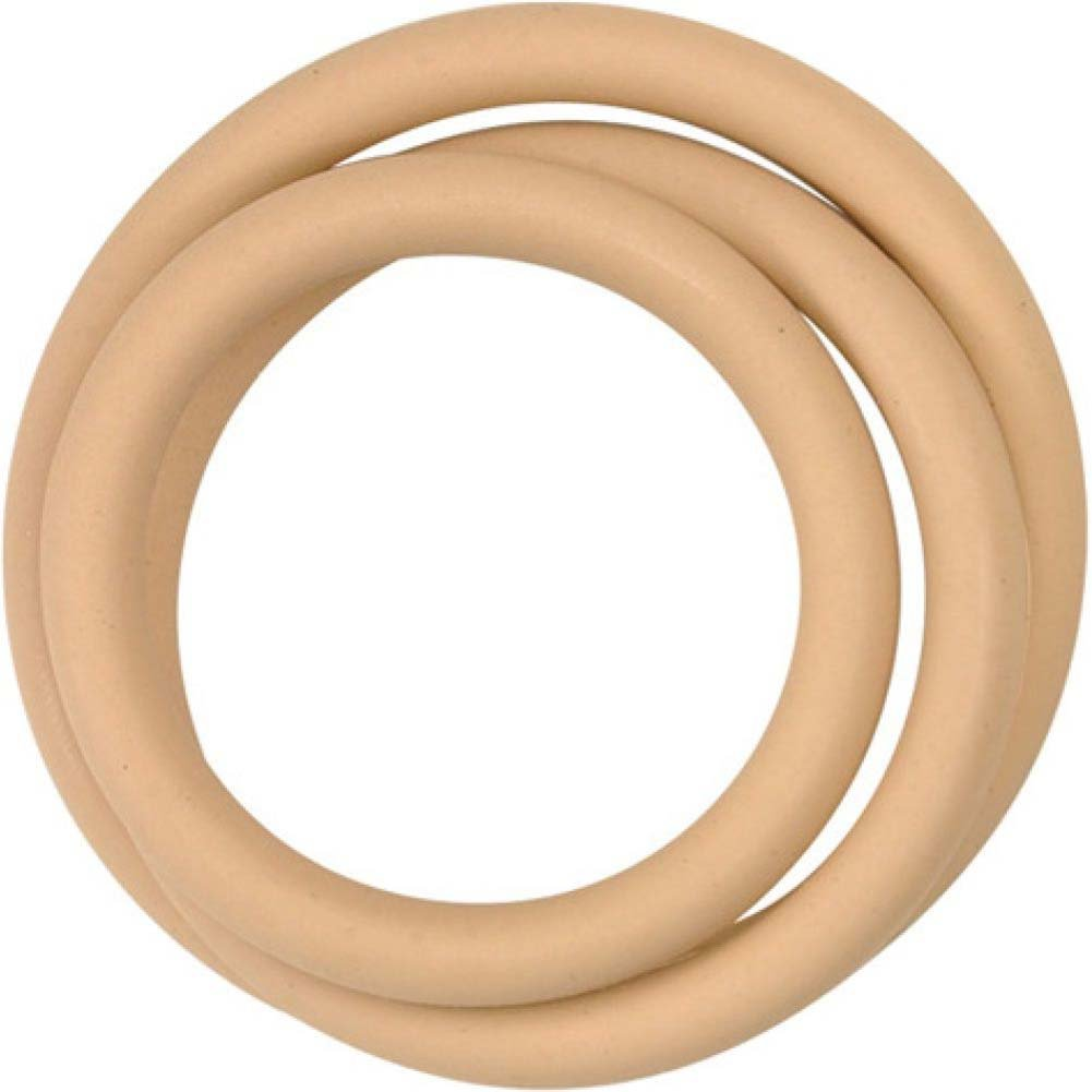 M2M Nitrile Cock Ring 3 Piece Pack Nude - View #2