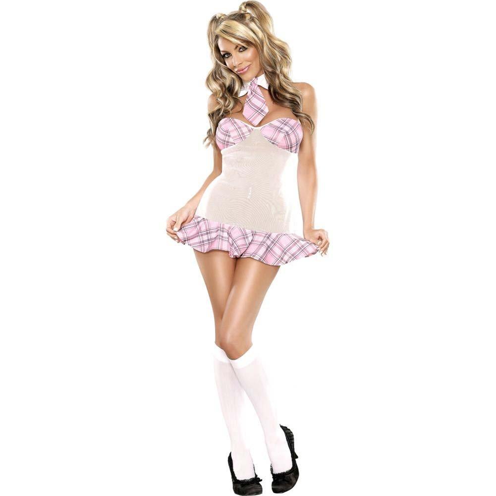 Magic Silk Coed Cutie Dress Bedroom Fantasy Costume Small/Medium Pink - View #4