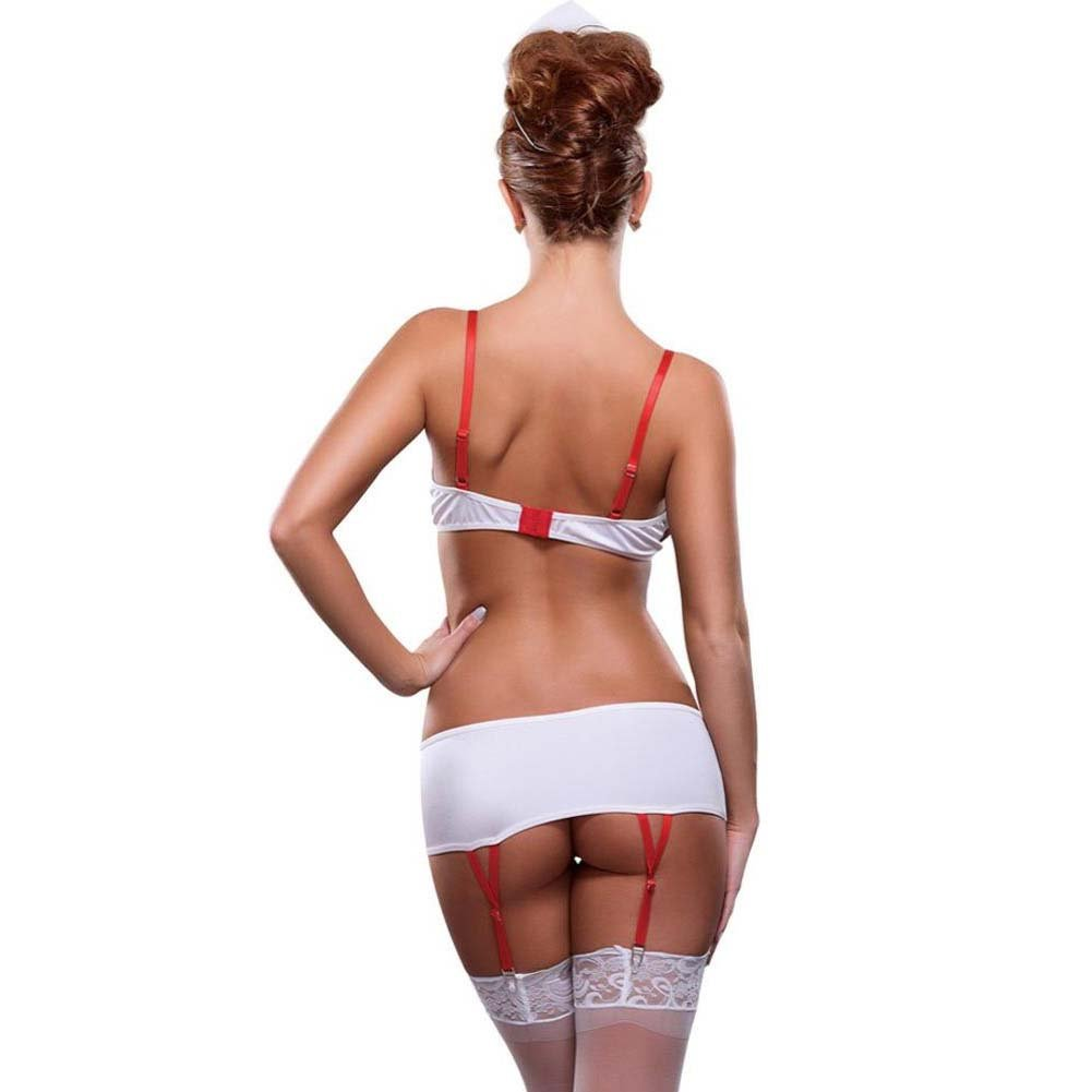 Magic Silk Nurse This Bedroom Fantasy Costume Large/Extra Large Red/White - View #2