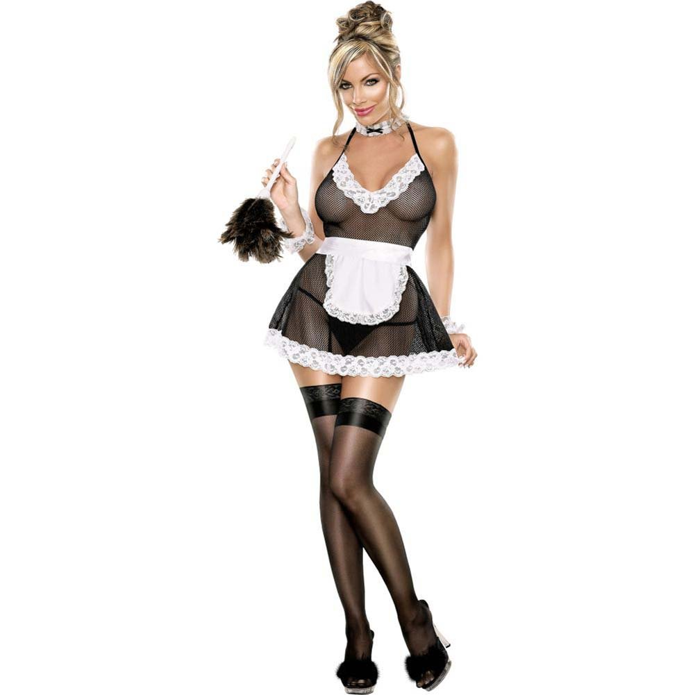 Exposed Chamber Maid Bedroom Fantasy Costume Large/Extra Large Black/White - View #4