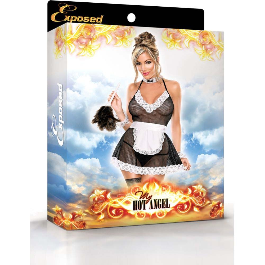 Exposed Chamber Maid Bedroom Fantasy Costume Small/Medium Black/White - View #3