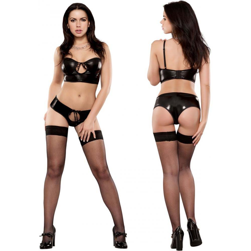 Liquid Onyx Keyhole Croptop and Shrt Bk Small Medium - View #1