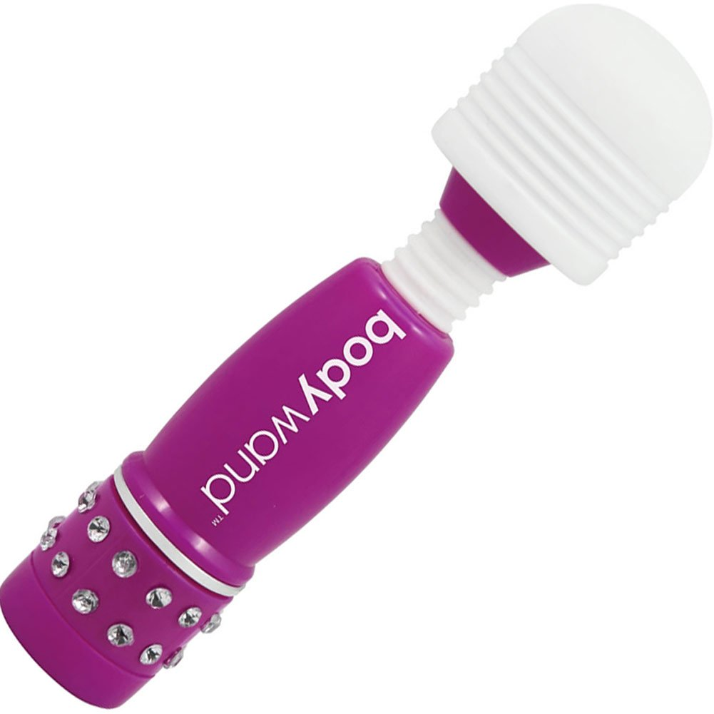 "BodyWand Waterproof Vibrating Mini Massager 4"" Neon Purple - View #2"